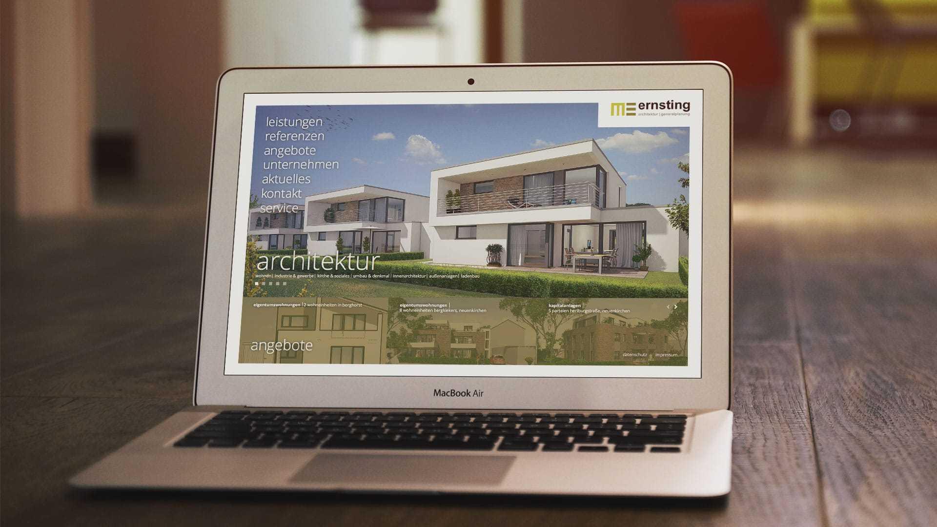 """Website """"Architekt Ernsting"""" - Webdesign"""