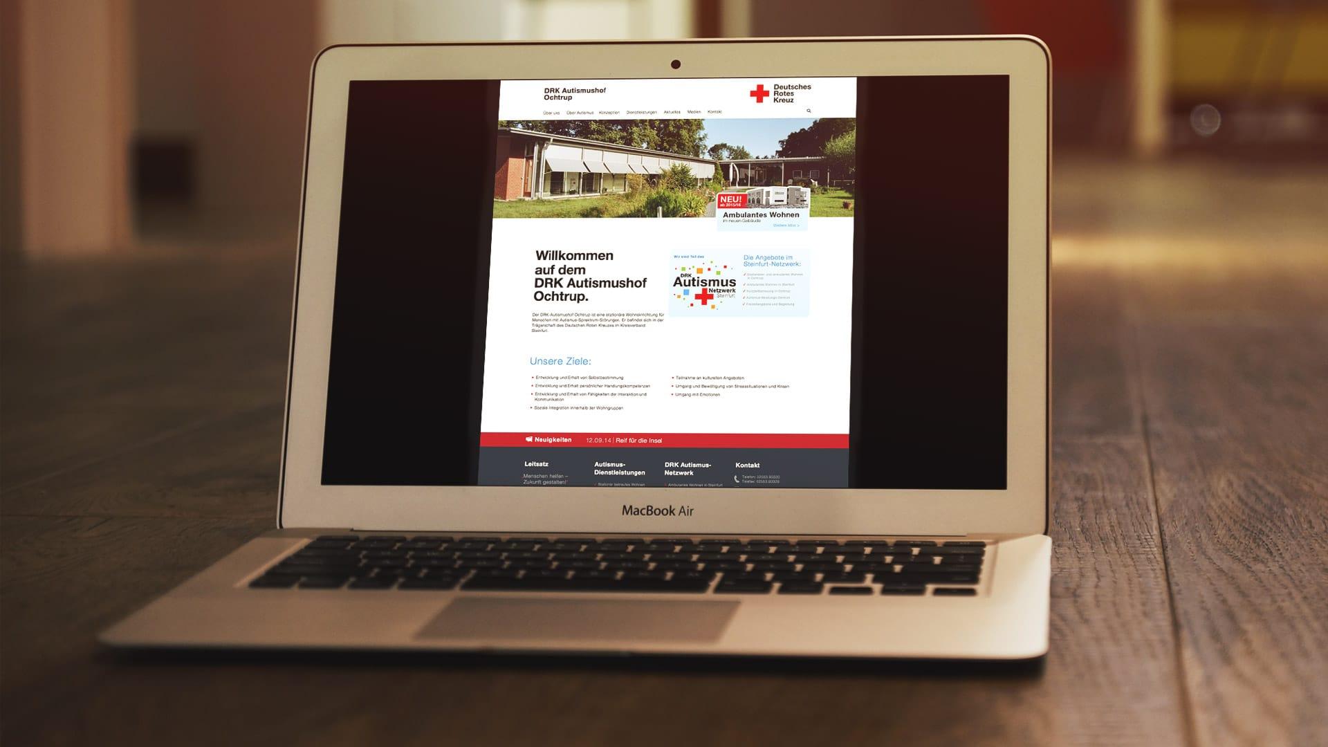 Website DRK Autismushof Ochtrup - Webdesign
