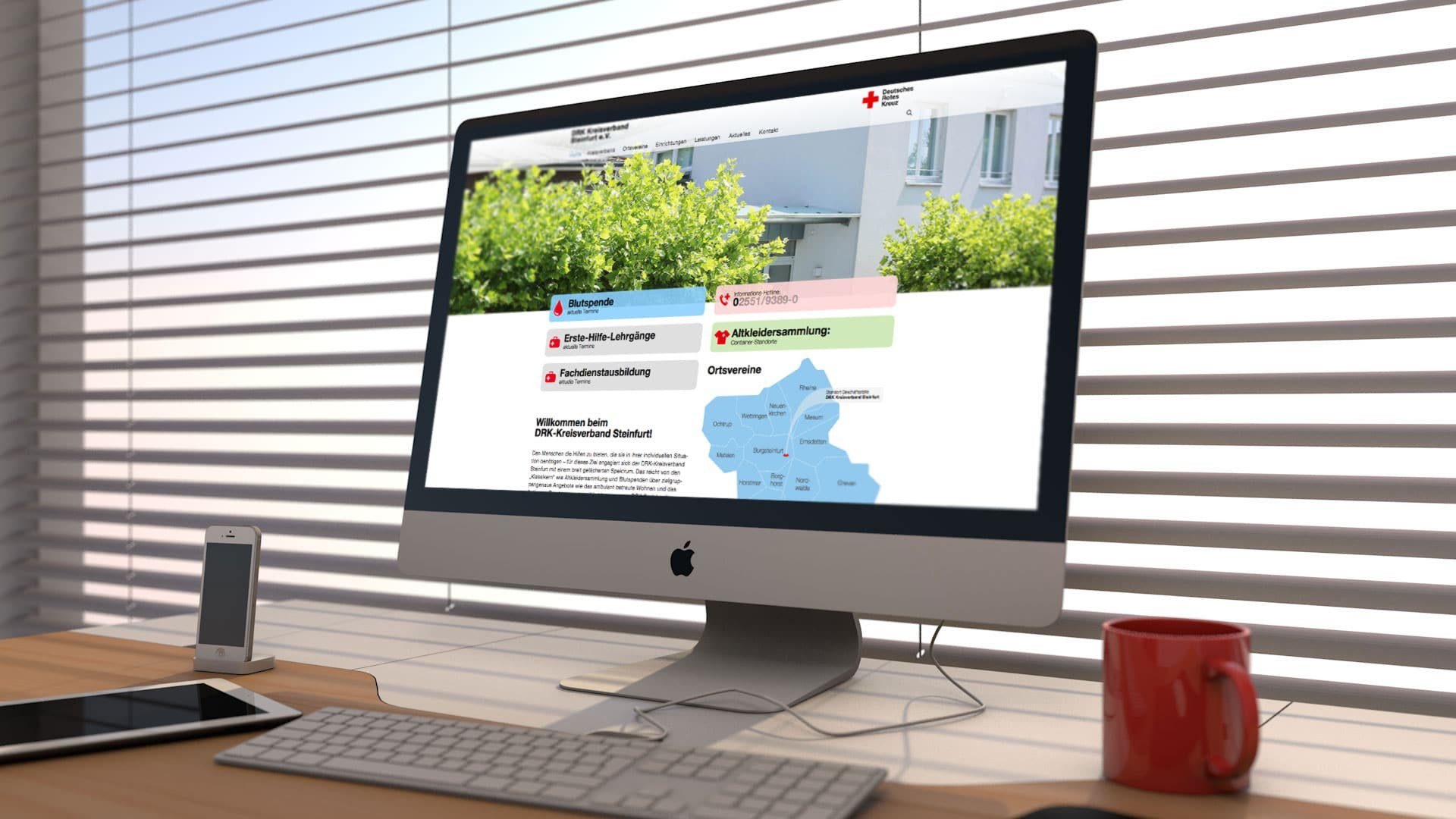 "Website ""DRK Kreisverband Steinfurt"" - Webdesign"