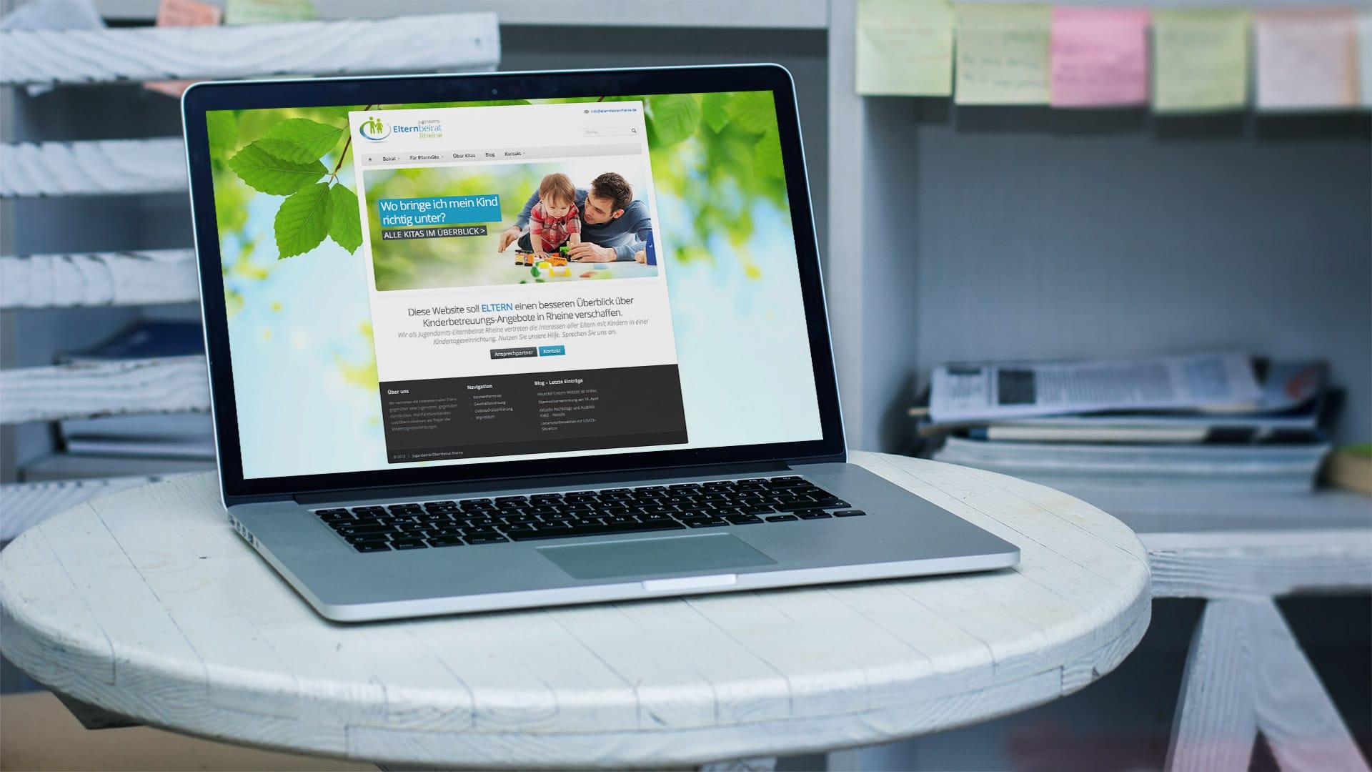 Website Jugendamtselternbeirat Rheine - Webdesign