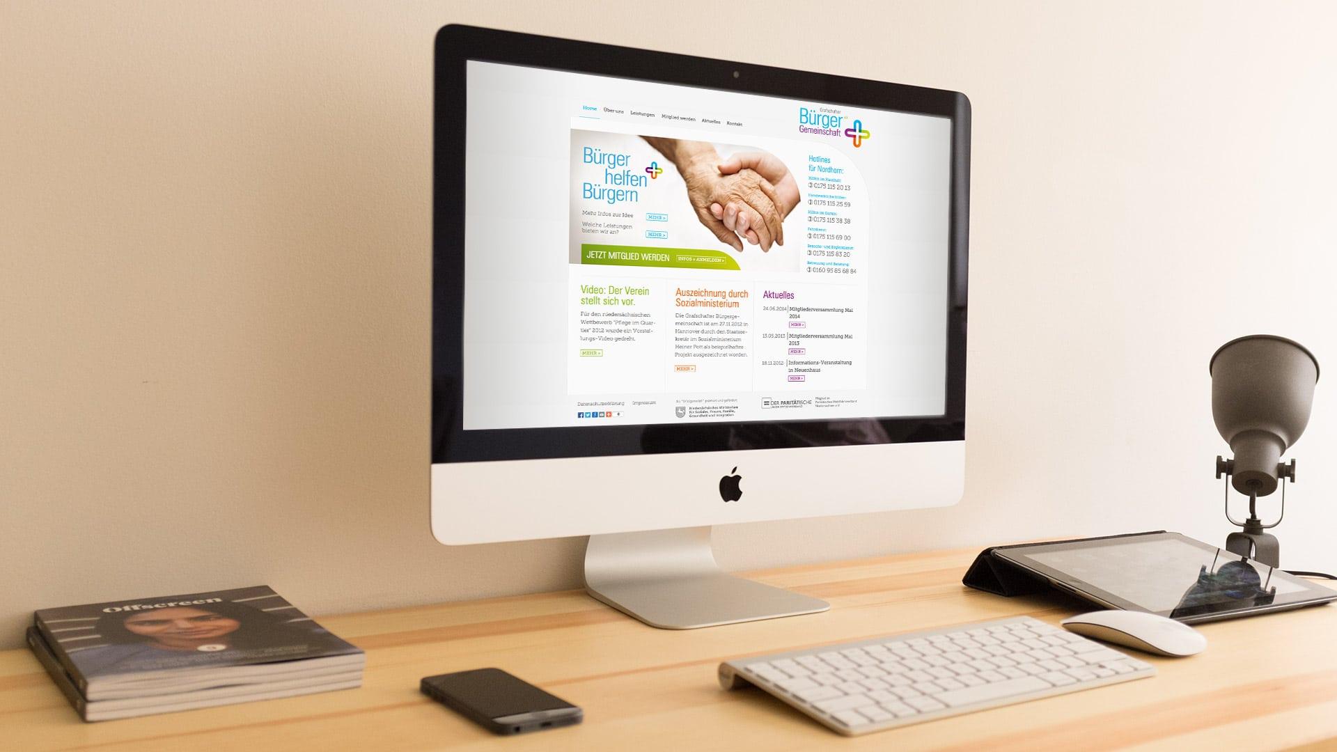 Website Grafschafter Bürgergemeinschaft - Webdesign