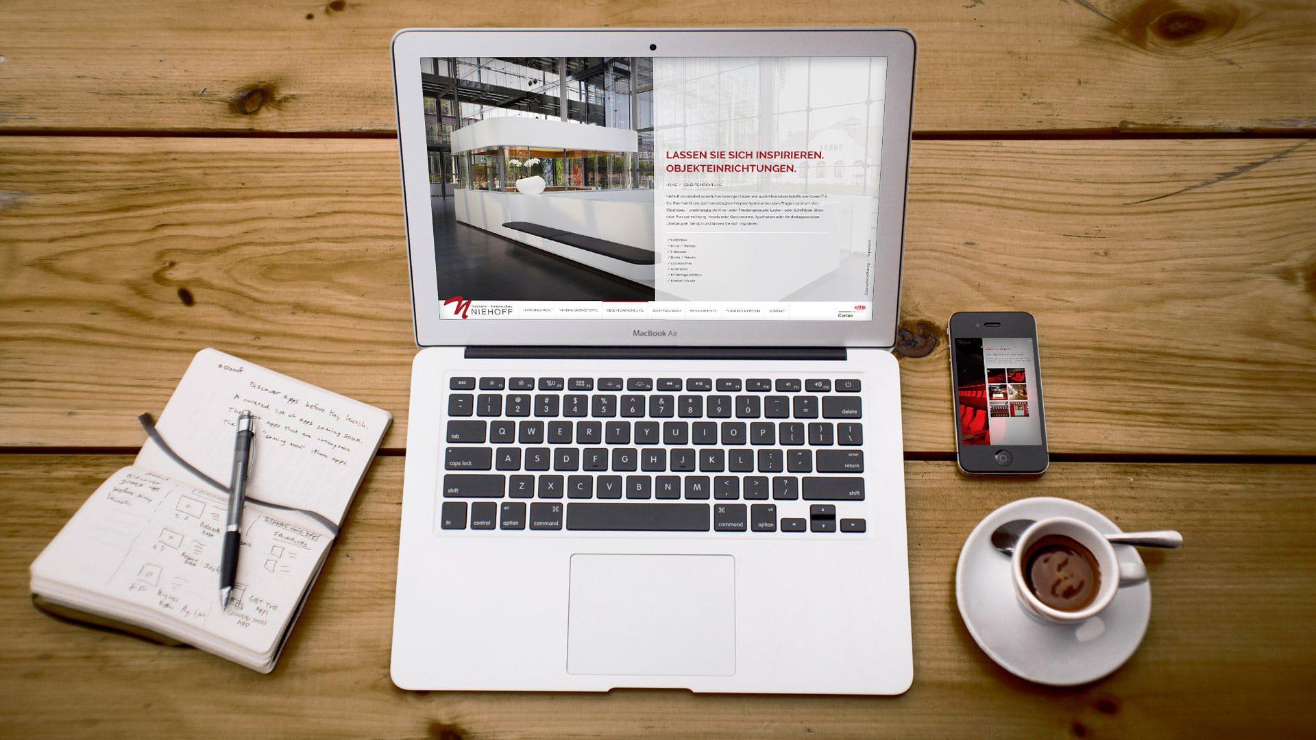 Website Tischlerei Niehoff - Webdesign